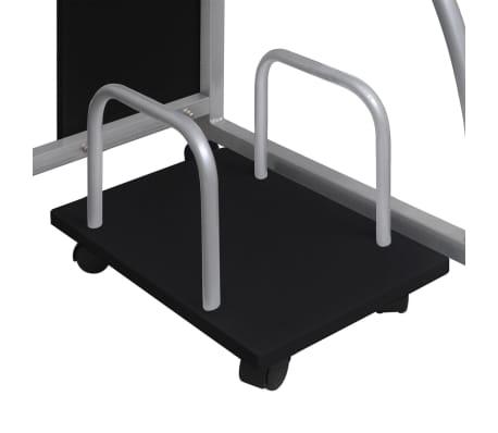 Computertisch PC Tisch Mobiler Computerwagen Bürotisch Rollen schwarz[4/6]