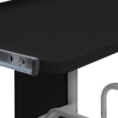 Computertisch PC Tisch Mobiler Computerwagen Bürotisch Rollen schwarz[3/6]