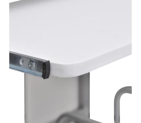 acheter table de bureau blanche pour ordinateur avec tag re pas cher. Black Bedroom Furniture Sets. Home Design Ideas