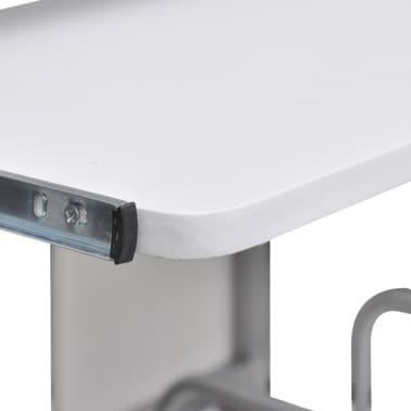 Table de Bureau Blanche pour Ordinateur avec étagère[3/6]