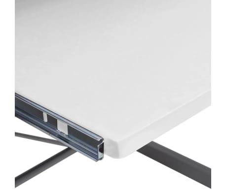 Computer Desk Workstation With Pull Out Keyboard Tray White[5/6]