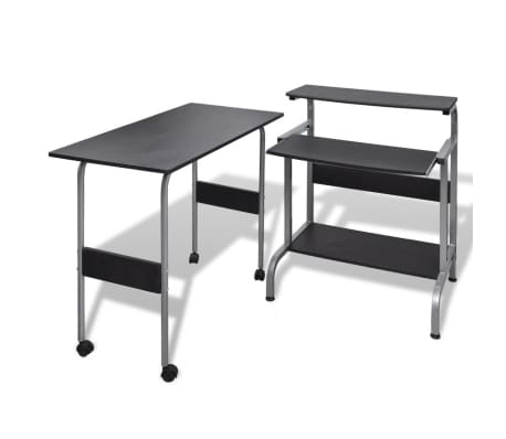 Computer Desk Adjustable Workstation Black