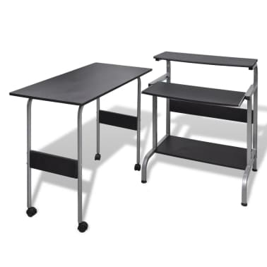 Computer Desk Adjustable Workstation Black[1/6]