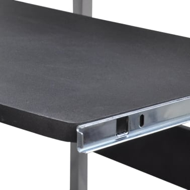 Computer Desk Adjustable Workstation Black[5/6]