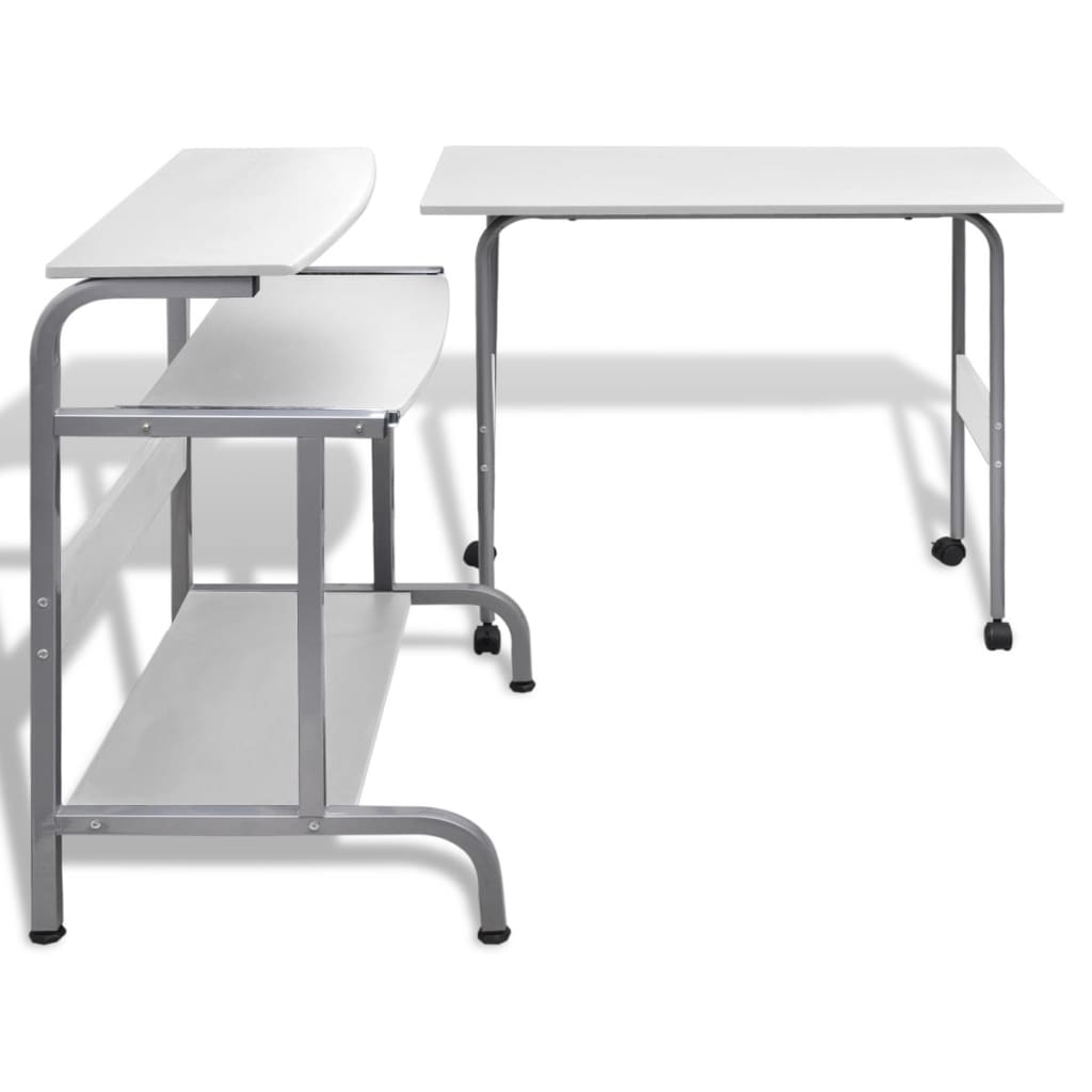 2-delige computer bureauset (wit)