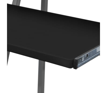 Computer Desk With Pull-Out Keyboard Tray Black[3/4]