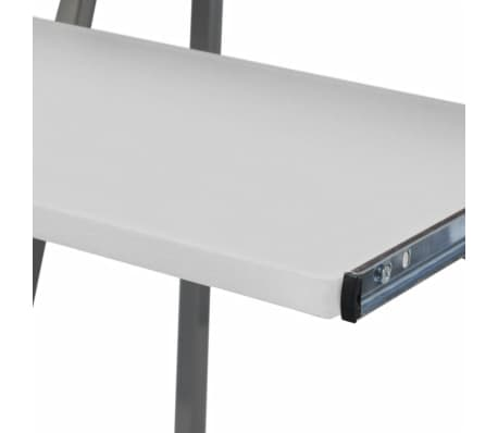 Computer Desk With Pull-Out Keyboard Tray White[3/4]