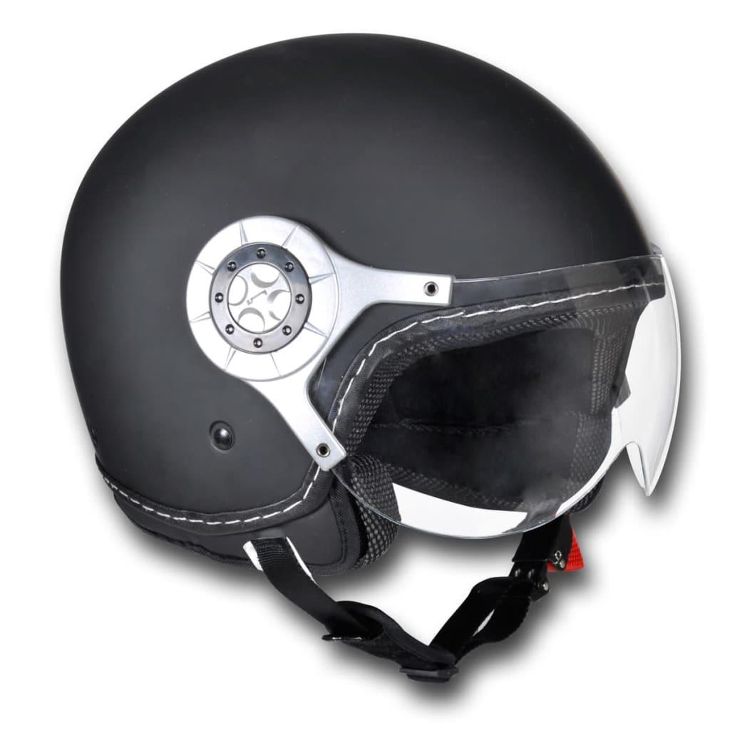Cască pentru Motoscooter M Neagră poza 2021 vidaXL