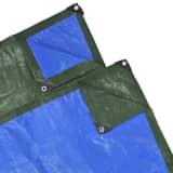PE Trekk 10 x 6 m 100 g/m2 Grønn/Blå