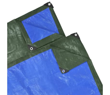 """PE Cover Sheet 32' 8"""" x 4' 11"""" Green/Blue[1/2]"""