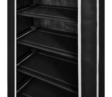 Schuhschrank Schuhregal Schuhablage 5 Schicht 58 x 28 x 106 cm Schwarz[5/7]
