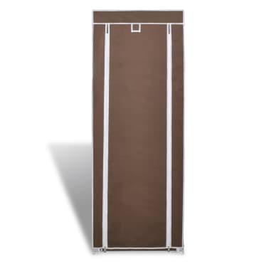 vidaXL Materiałowa szafka na buty z osłoną, 57 x 29 x 162 cm, brązowa[2/7]