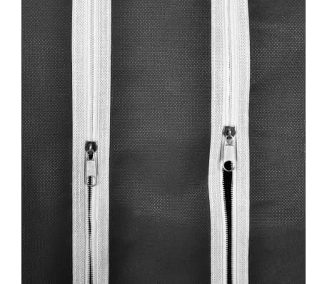 "vidaXL Fabric Wardrobe with Compartments and Rods 17.7""x59""x69"" Black[6/7]"