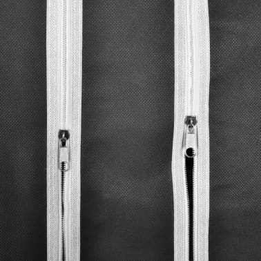 vidaXL Fabric Wardrobe with Compartments and Rods 45x150x176 cm Black[6/7]