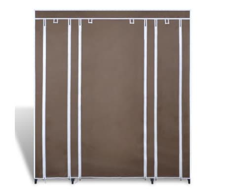 vidaXL Ντουλάπα με Ράφια / Σωλήνες Καφέ 45 x 150 x 176 εκ. Υφασμάτινη[2/7]