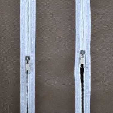 vidaXL Fabric Wardrobe with Compartments and Rods 45x150x176 cm Brown[6/7]