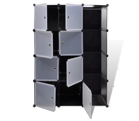 "vidaXL Modular Cabinet with 9 Compartments 1' 3""x3' 9""x4' 11""[4/7]"