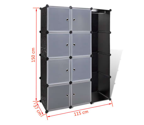 "vidaXL Modular Cabinet with 9 Compartments 1' 3""x3' 9""x4' 11""[7/7]"
