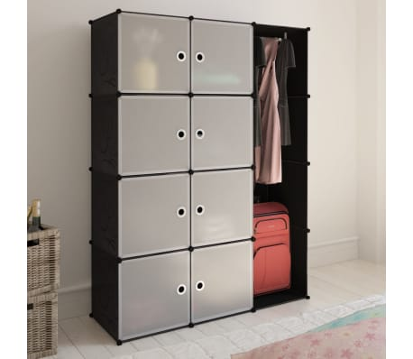 "vidaXL Modular Cabinet with 9 Compartments 1' 3""x3' 9""x4' 11""[1/7]"