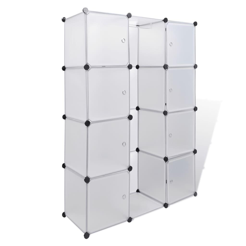 Afbeelding van vidaXL Kast met 9 compartimenten modulair 37x115x150 cm wit