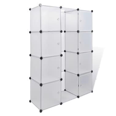 vidaXL Armoire modulaire 9 compartiments Blanc 37 x 115 x 150 cm[2/7]