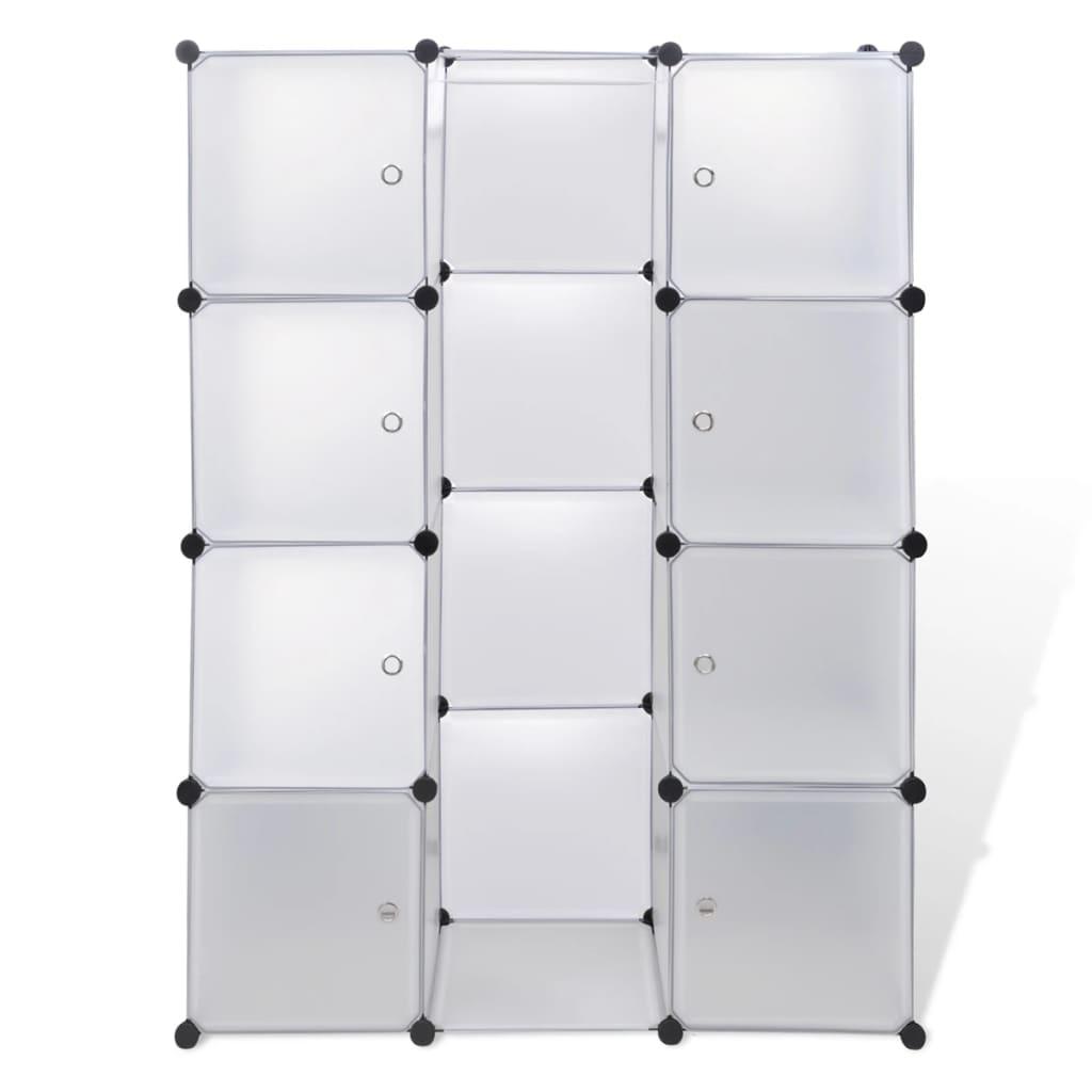 vidaXL Kast met 9 compartimenten modulair 37x115x150 cm wit