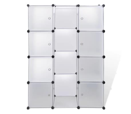 vidaXL Armoire modulaire 9 compartiments Blanc 37 x 115 x 150 cm[3/7]