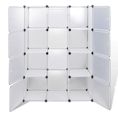 vidaXL Armoire modulaire 9 compartiments Blanc 37 x 115 x 150 cm[4/7]