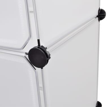 vidaXL Armoire modulaire 9 compartiments Blanc 37 x 115 x 150 cm[6/7]
