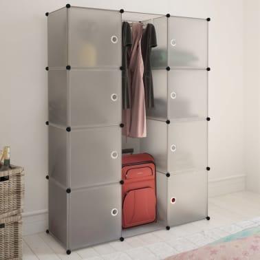 vidaXL Armoire modulaire 9 compartiments Blanc 37 x 115 x 150 cm[1/7]