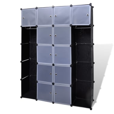 "Modular Cabinet with 14 Compartments 14.6""x57.5""x71""[2/6]"