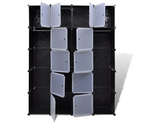 "Modular Cabinet with 14 Compartments 14.6""x57.5""x71""[4/6]"