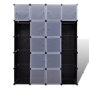 "Modular Cabinet with 14 Compartments 14.6""x57.5""x71""[3/6]"