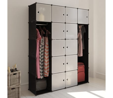 "Modular Cabinet with 14 Compartments 14.6""x57.5""x71""[1/6]"