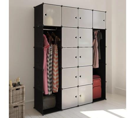 Details About DIY Plastic Wardrobe Closet Organizer 12 Cube Storage Cabinet  W/ Clothes Hanger