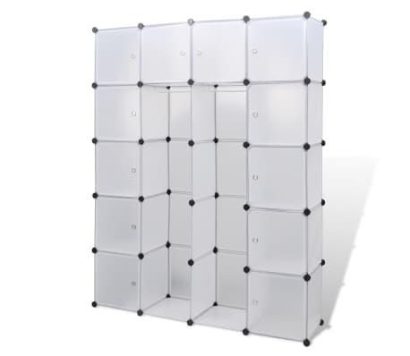 vidaXL Modulinė spinta su 14 skyrių, balta, 37x146x180,5cm