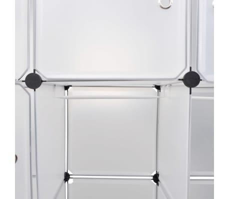 vidaXL Cabinet modulable avec 14 compartiments blanc 37x146x180,5 cm[5/6]