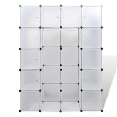 vidaxl modularer schrank mit 14 f chern wei 37 x 146 x 180 5 cm g nstig kaufen. Black Bedroom Furniture Sets. Home Design Ideas