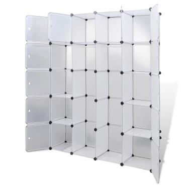 vidaXL Cabinet modulable avec 14 compartiments blanc 37x146x180,5 cm[4/6]