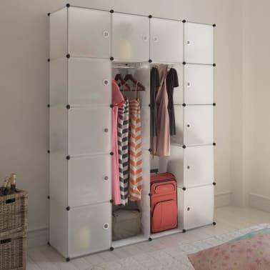 vidaXL Cabinet modulable avec 14 compartiments blanc 37x146x180,5 cm[1/6]