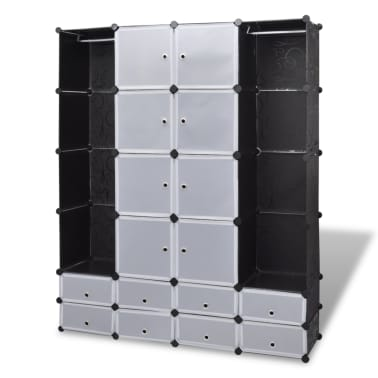 "Modular Cabinet with 18 Compartments 14.6""x57.5""x71""[2/7]"