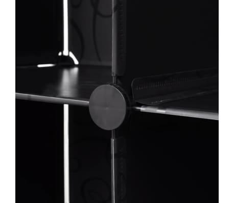vidaXL Cabinet modulable avec 18 compartiments noir et blanc 37x146x180,5 cm[5/7]