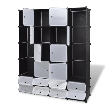"Modular Cabinet with 18 Compartments 14.6""x57.5""x71""[3/7]"