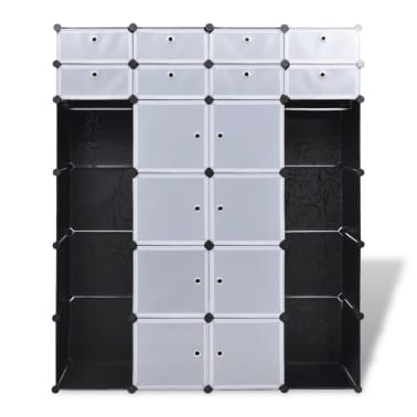 "Modular Cabinet with 18 Compartments 14.6""x57.5""x71""[6/7]"