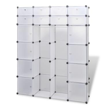 vidaXL Modulinė spinta, 18 skyrių, balta 37 x 146 x 180,5 cm[2/7]