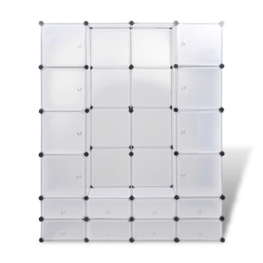 vidaXL Modulinė spinta, 18 skyrių, balta 37 x 146 x 180,5 cm[4/7]