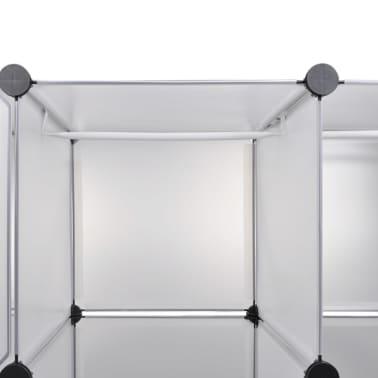 vidaXL Modulinė spinta, 18 skyrių, balta 37 x 146 x 180,5 cm[5/7]