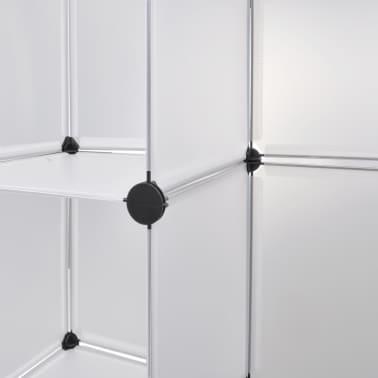 vidaXL Modulinė spinta, 18 skyrių, balta 37 x 146 x 180,5 cm[6/7]