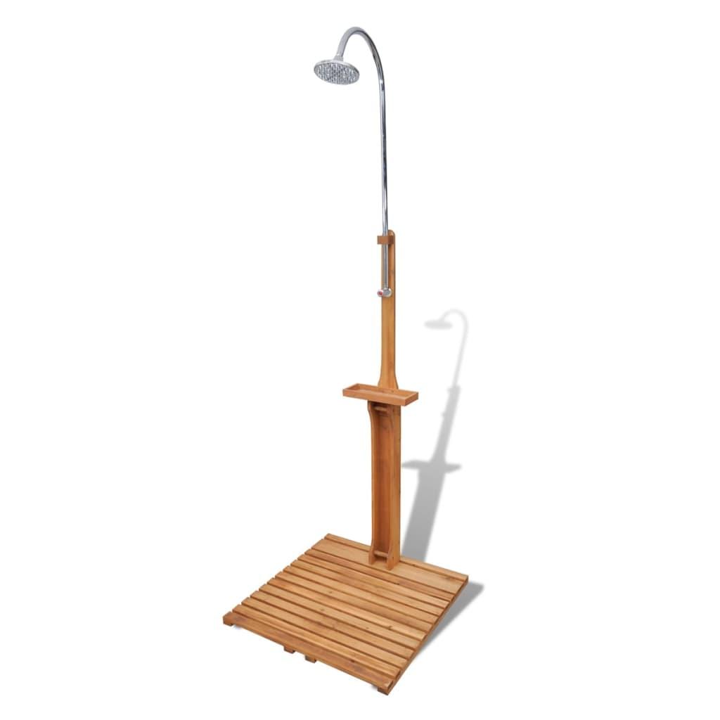 Dřevěná zahradní sprcha