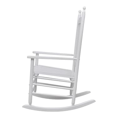 vidaXL Rocking Chair with Curved Seat White Wood[2/5]